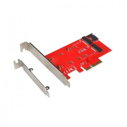 itec Adapter PCIE SATA 2x M.2 Card PCIE|SATA