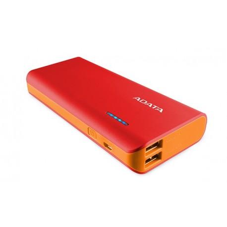 Adata PowerBank PT100 10000mAh 3.1A Czerwony|Pomarańczowy