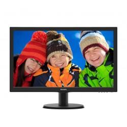 Philips 23.6 243V5LSB5 LED  DVI Czarny