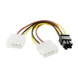 4world Kabel rozdzielacz zasilania 2xHDD   6PIN BTX
