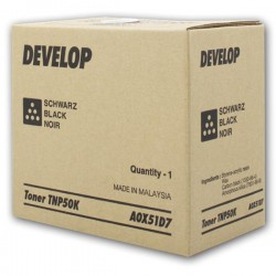 Develop oryginalny toner A0X51D7, black, 5000s, TNP50K, Develop Ineo +3100P