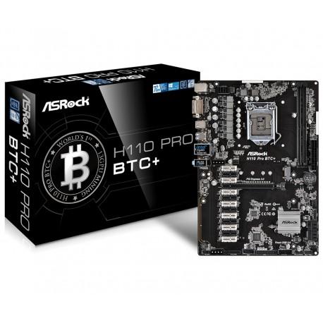 ASRock H110 Pro BTC+ s1151 H110 2DDR4 USB3.0 ATX