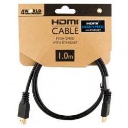 4world 4W Kabel HDMI High Speed z Ethernetem (v1.4), 1m