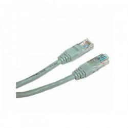 UTP patchcord, Cat.5e, RJ45 M0.5m, nieekranowany, krzyżowy, szary, economy, do połączenia 2 PC