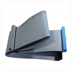 Kabel ATA 100, HDD F HDD 2x F, 0.7m, 40 żył szary