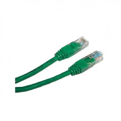 UTP patchcord UTP patchcord, Cat.5e, RJ45 M0.5m, nieekranowany, zielony, economy