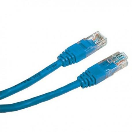 UTP patchcord UTP patchcord, Cat.5e, RJ45 M0.25m, nieekranowany, niebieski, economy