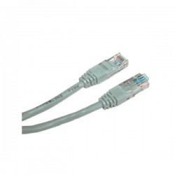 UTP patchcord UTP patchcord, Cat.5e, RJ45 M0.5m, nieekranowany, szary, Logo, LOGO bag
