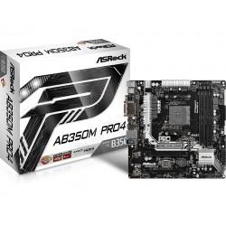 ASRock AB350M PRO4 B350 4DDR4 USB3|M.2 uATX