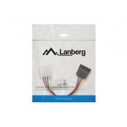 LANBERG Kabel Molex zasilający  SATA F|M 15cm
