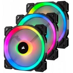 Corsair Fan LL120 RGB LED PWM 3 Fun Pack                        Dual Light Loop RGB LED PWN Fan  3 Fan Pack with Lighting Node P