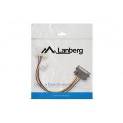 LANBERG Kabel SATA zasilający  Molex M|F 15cm