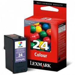 Lexmark oryginalny ink 18C1524E, #24, color, return, Lexmark Z1420, X4530