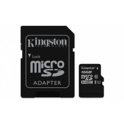 Kingston microSD  16GB Class10 Canvas Select 80 10MB s adapter