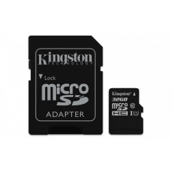 Kingston microSD  32GB Canvas Select 80 10MB s adapter