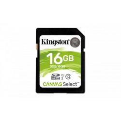 Kingston SD  16GB Canvas Select 80|10MB|s