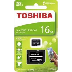Toshiba microSD 16GB M203 UHSI U1 adapter