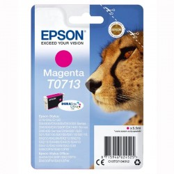 Epson oryginalny ink C13T07134022, magenta, blistr z ochroną, 5,5ml, Epson D78, DX4000, DX4050, DX5000, DX5050, DX6000, DX605