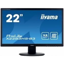 IIYAMA 22 X2283HSB3 VA,HDMI,DP,2x1W,SLUCHAWKOWE WEJ.