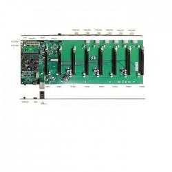 Qoltec Profesjonalna płyta główna do koparki kryptowalut | 8x PCIE | zintegrowany procesor Intel Celeron 3865U