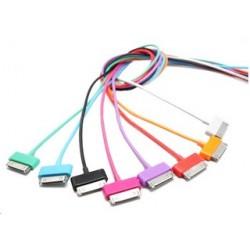 4world Kabel USB 2.0 do iPad   iPhone   iPod transfer ładowanie 1.0m pomarańczowy