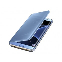 SAMSUNG Etui Galaxy S7 Edge Clear View Cover NIEBIESKI