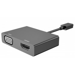 HP Inc. MicroUSB to HDMI/VGA Adapter