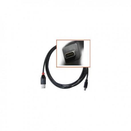 Kabel USB (2.0), USB A M 8 pin M, 1.8m, czarny, Logo, blistr, SAMSUNG