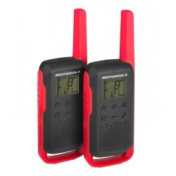 Motorola T62 PMR 446 KRÓTKOFALÓWKI CZERWOWECZARNE