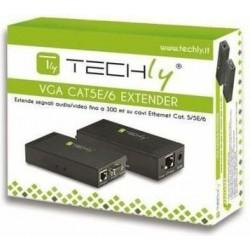 Techly Extender VGA po kablu Cat5e|6 do 300m z audio