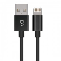 Kabel USB|Lightning (2.0), USB (2.0) A M Apple Lightning M, 1m, okrągły, czarny, DA, box, DT0004BK