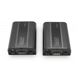 Digitus Przedłużacz|Extender HDMI do 30m|60m po skrętce Cat.6|7, 4K2K 60Hz UHD, HDCP 2.2, IR, audio (zestaw)