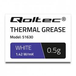 Qoltec Pasta termoprzewodząca   1.42W mK   0,5g   biała