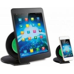 Techly Zestaw dwóch podstawek do tabletu i smartphone, czarny