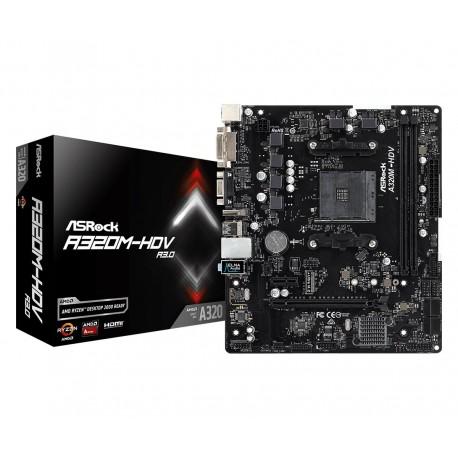 ASRock Płyta główna A320MHDV R3.0 AM4 2DDR4 DSUB|DVI|HDMI|m.2 mATX