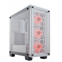 Corsair %Crystal Series 460X RGB Compact ATX                     MidTower, WHITE