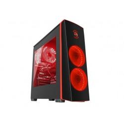 NATEC Obudowa Genesis Titan 700 USB 3.0 z oknem czerwone podświetlenie