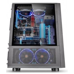 Thermaltake Core X71 Full Tower USB3.0 Tempered Glass  Black