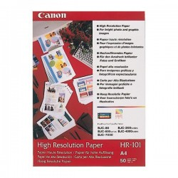 Canon High Resolution Paper, foto papier, wodoodporny, biały, A4, 106 g|m2, 50 szt., HR101 A4|50, atrament