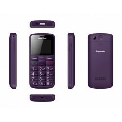 Panasonic Telefon komórkowy dla seniora KXTU110 fioletowy