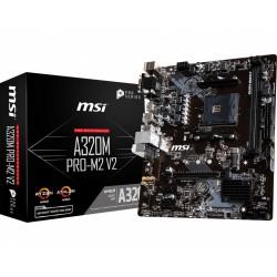 MSI Płyta główna A320M PROM2 V2 s.AM4 2DDR4 VGA|DVI|HDMI M.2 mATX