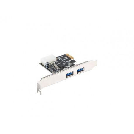 LANBERG Karta PCI Express  USB 3.1 GEN1 2Port + Śledź Low Profile