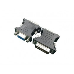 Gembird Adapter DVI>VGA (24M|15F) czarny