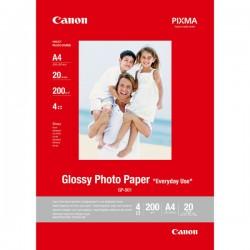 Canon Glossy Photo Paper, foto papier, połysk, GP501, biały, A4, 210 g|m2, 20 szt., 0775B082, atrament