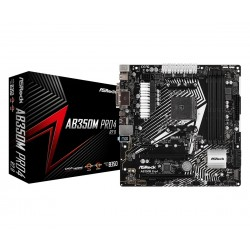 ASRock Płyta główna AB350M PRO4 R2.0 4DDR4 USB3.1|DVI|HDMI|VGA uATX
