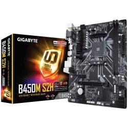 Gigabyte Płyta główna B450M S2H AM4 B450 2DDR 4 DVI|HDMI|VGA M.2 uATX