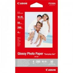 Canon Glossy Photo Paper, foto papier, połysk, GP501, biały, 10x15cm, 4x6, 210 g|m2, 50 szt., 0775B081, atrament