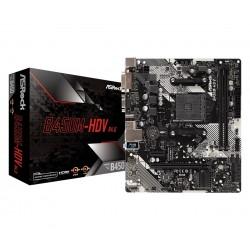 ASRock Płyta główna B450MHDV R4.0 AM4 2DDR4 VGA|DVI|HDMI|M.2 uATX