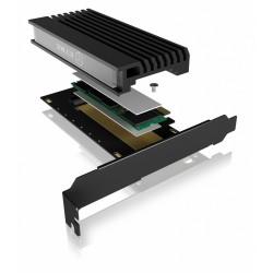 IcyBox Karta PCIe z gniazdem M.2 MKey dla jednego dysku SSD M.2 NVMe IBPCI214M2HSL