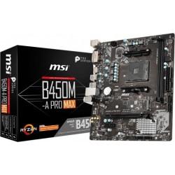 MSI Płyta główna B450MA PRO MAX AM4 DDR4 DVI|HDMI uATX